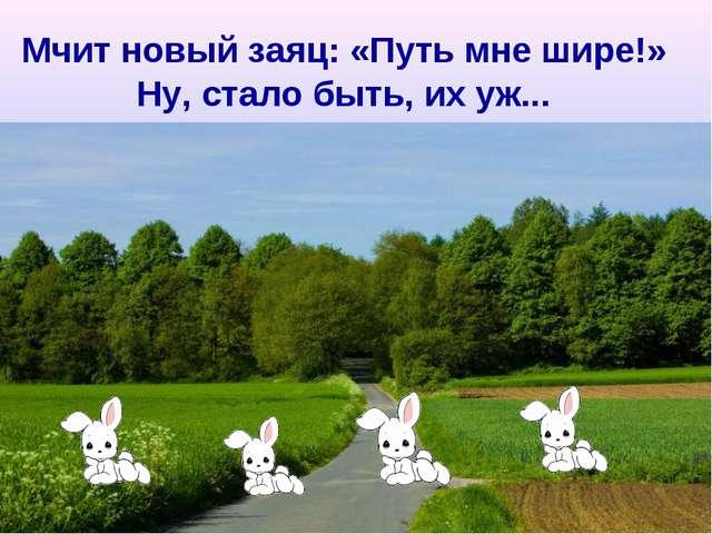 Мчит новый заяц: «Путь мне шире!» Ну, стало быть, их уж...