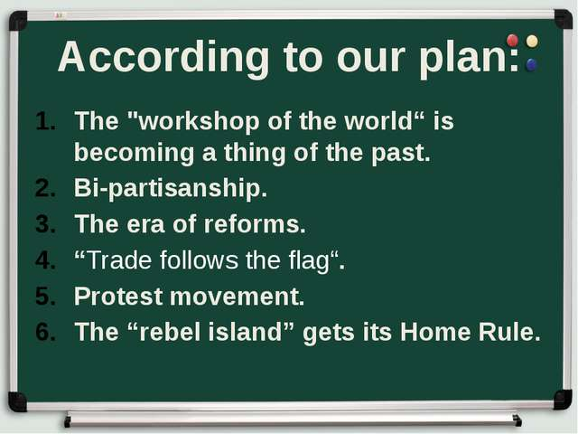 "According to our plan: The ""workshop of the world"" is becoming a thing of the..."