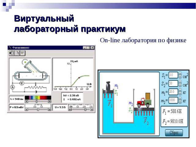 Виртуальный лабораторный практикум On-line лаборатория по физике