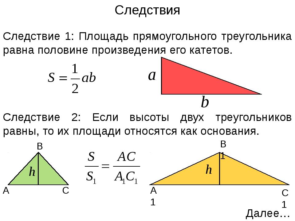 Площадь трапеции Теорема: Площадь трапеции равна произведению полусуммы её ос...