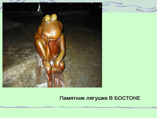 Памятник лягушке В БОСТОНЕ