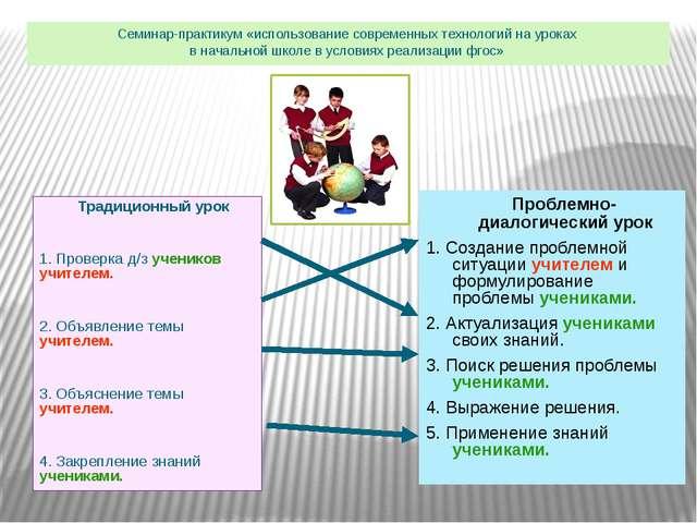 Традиционный урок 1. Проверка д/з учеников учителем. 2. Объявление темы учит...