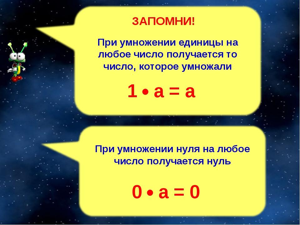 1  а = а 0  а = 0 ЗАПОМНИ!