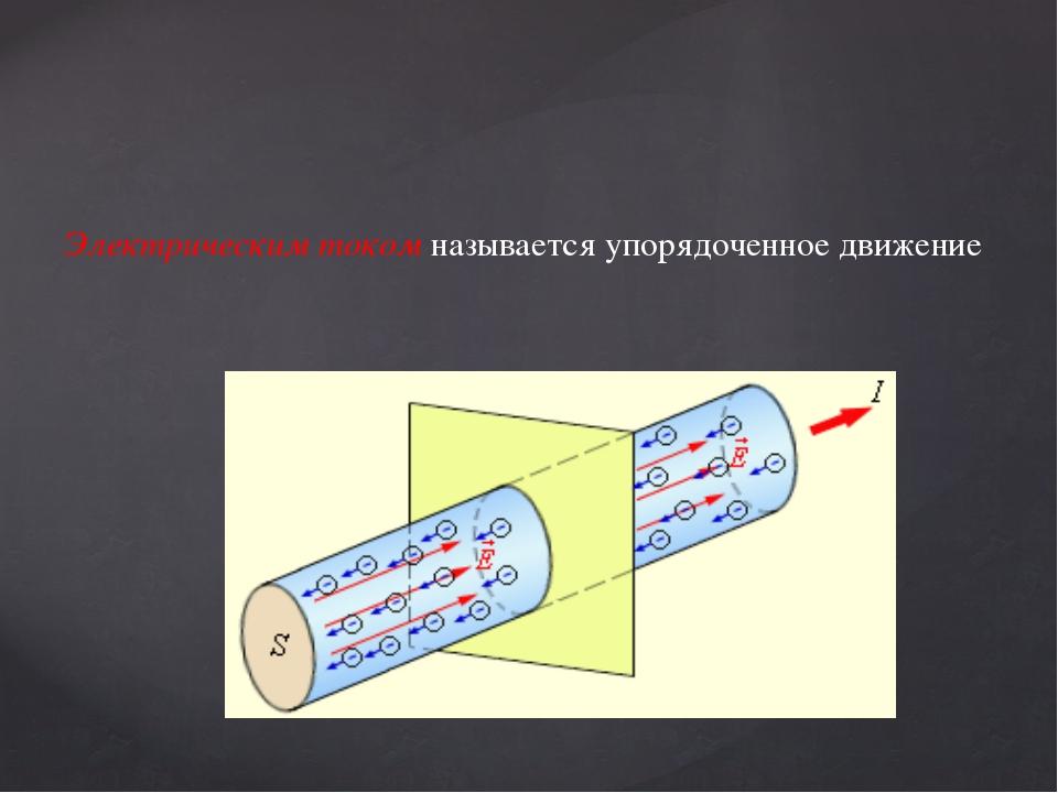 Электрическим током называется упорядоченное движение