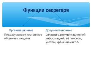 Функции секретаря