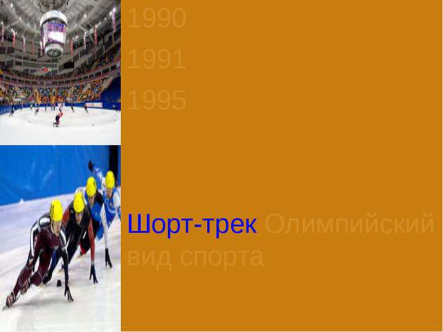 1990 1991 1995 Шорт-трек Олимпийский вид спорта