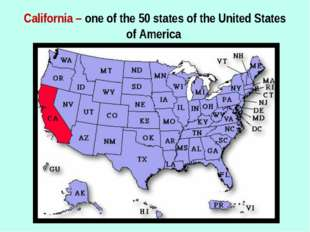 California – one of the 50 states of the United States of America