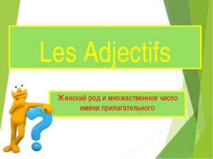 Les Adjectifs Женский род и множественное число имени прилагательного