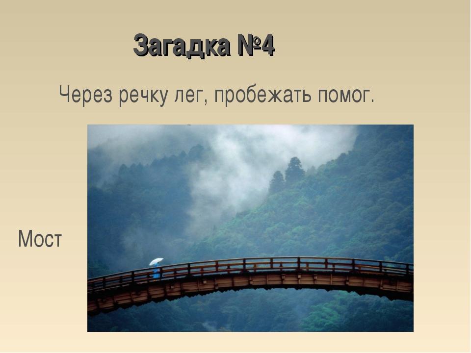 Через речку лег, пробежать помог. Мост Загадка №4