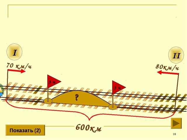 * 80км/ч II I 70 км/ч Показать (2) ? 3 ч