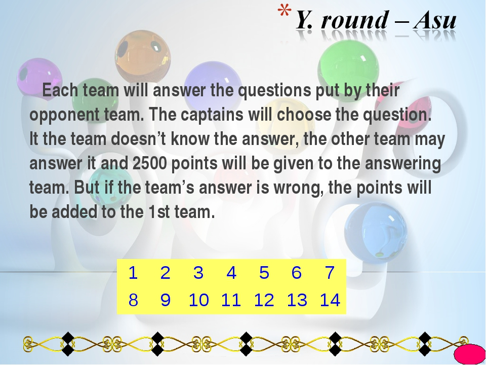 Each team will answer the questions put by their opponent team. The captains...