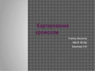 Картирование хромосом Учитель биологии МБОУ ЯСОШ Бекетова Н.Ф.