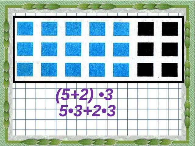 (5+2) •3 5•3+2•3