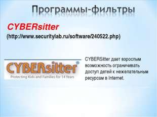 CYBERsitter (http://www.securitylab.ru/software/240522.php)  CYBERSitter дае
