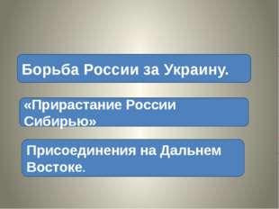 Борьба России за Украину. «Прирастание России Сибирью» Присоединения на Даль