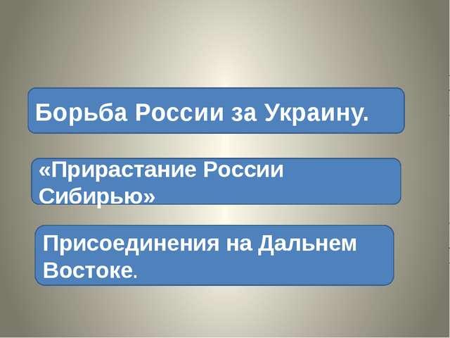 Борьба России за Украину. «Прирастание России Сибирью» Присоединения на Даль...