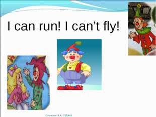 I can run! I can't fly! Сухомлин Я.А. СШ№19 Сухомлин Я.А. СШ№19