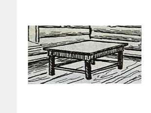Главным предметом мебели в избе считался обеденный стол. Он стоял в красном