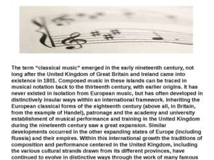 "The term ""classical music"" emerged in the early nineteenth century, not long"