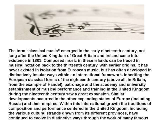 "The term ""classical music"" emerged in the early nineteenth century, not long..."