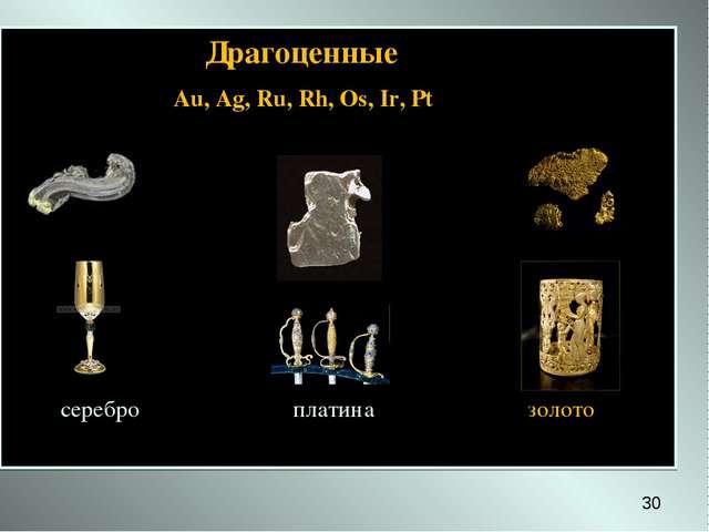 Драгоценные Au, Ag, Ru, Rh, Os, Ir, Pt серебро платина золото *