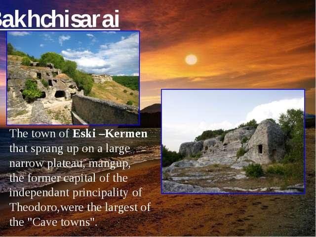The town of Eski –Kermen that sprang up on a large narrow plateau, mangup, th...