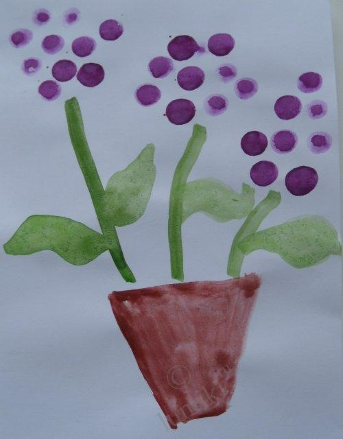 Презентация рисунков цветы для мамы - мозайка из рисунка
