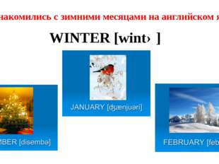 WINTER [wintə] Познакомились с зимними месяцами на английском языке