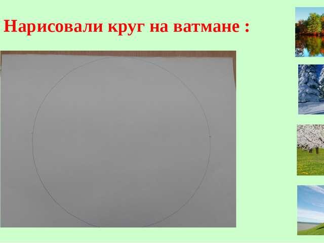 1. Нарисовали круг на ватмане :