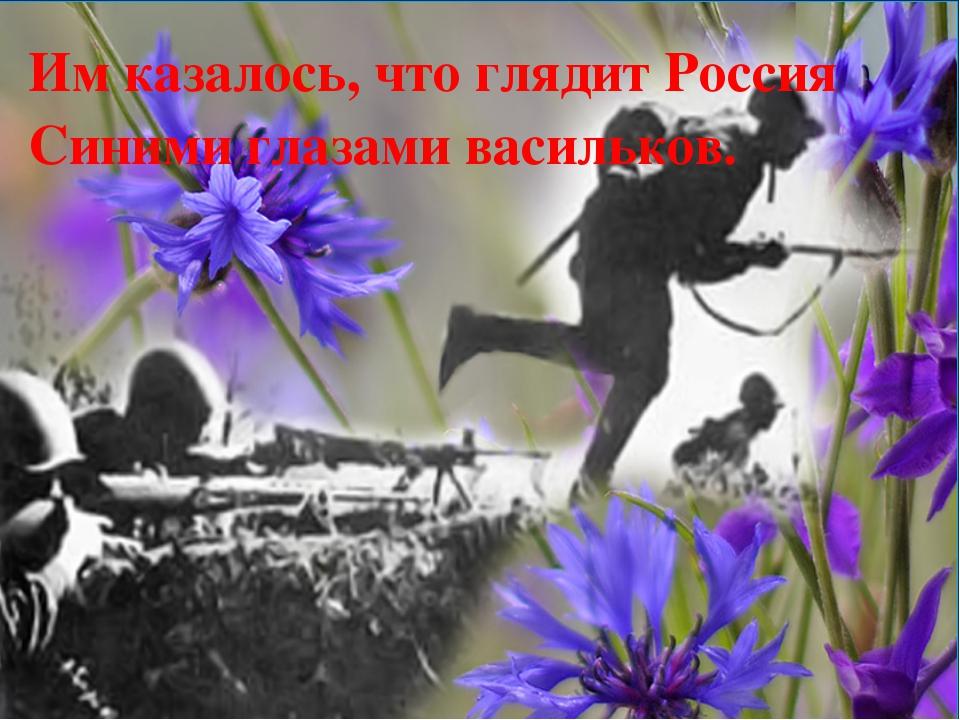 Им казалось, что глядит Россия Синими глазами васильков.