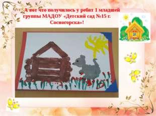 А вот что получилось у ребят 1 младшей группы МАДОУ «Детский сад №15 г. Сосн