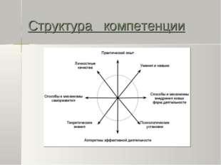 Структура компетенции