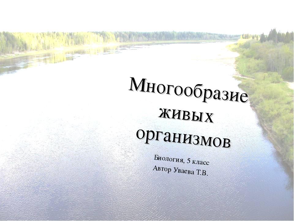Многообразие живых организмов Биология, 5 класс Автор Уваева Т.В.