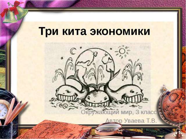 Три кита экономики Окружающий мир, 3 класс Автор Уваева Т.В.