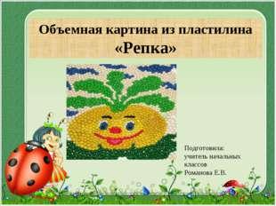 Объемная картина из пластилина «Репка» Подготовила: учитель начальных классов