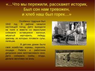 «…Что мы пережили, расскажет историк, Был сон нам тревожен, и хлеб наш был г