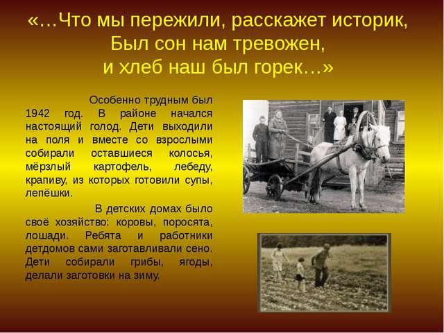 «…Что мы пережили, расскажет историк, Был сон нам тревожен, и хлеб наш был г...