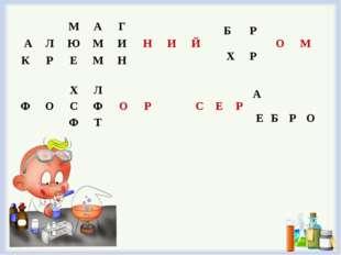 МАГНИЙ АЛЮМИ КРЕМН ХЛОР ФОСФ Ф