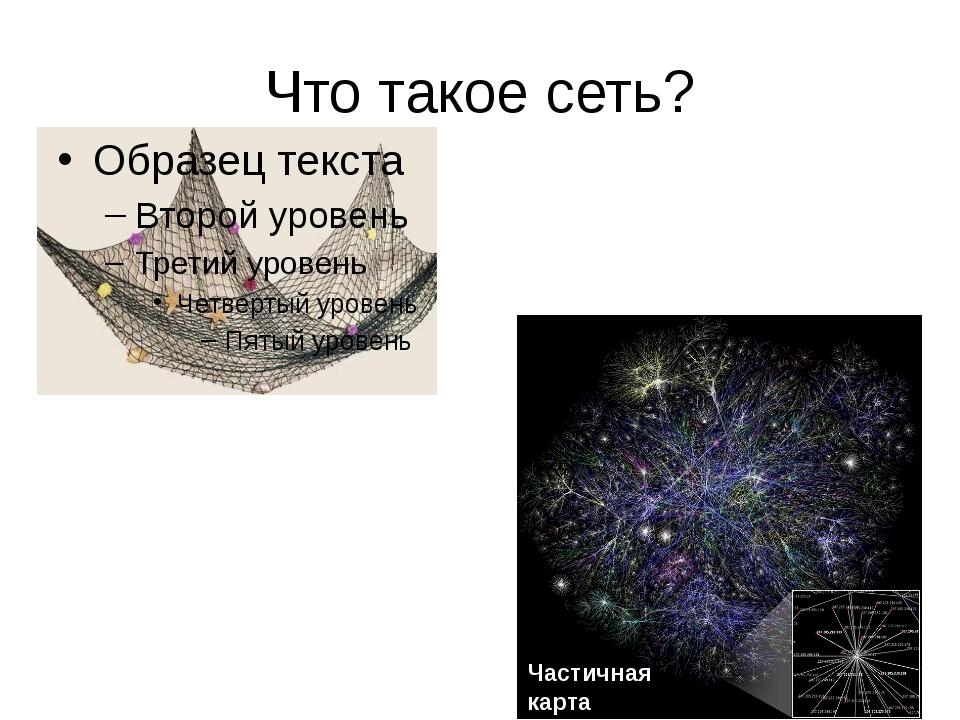 Что такое сеть? Частичная карта Интернета