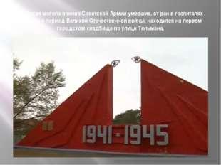 Братская могила воинов Советской Армии умерших, от ран в госпиталях Абакана в