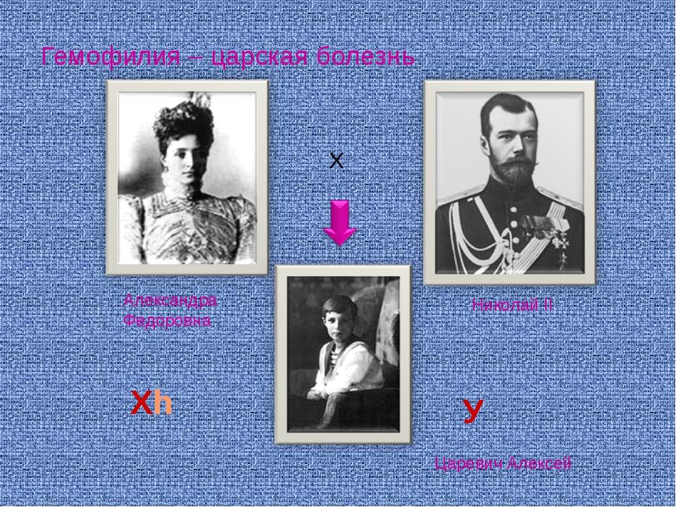 Гемофилия – царская болезнь Х Царевич Алексей Николай II Александра Федоровна...