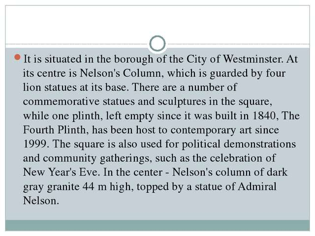It is situated in the borough of the City of Westminster. At its centre is Ne...