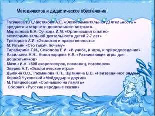 Методическое и дидактическое обеспечение Тугушева Г.П.,Чистякова А.Е. «Экспер