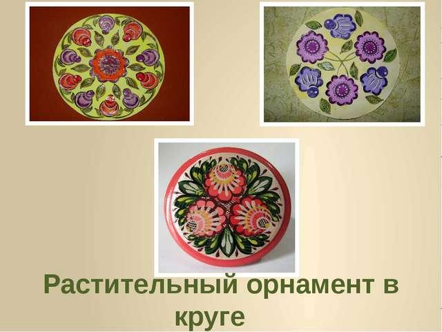 Растительный орнамент в круге