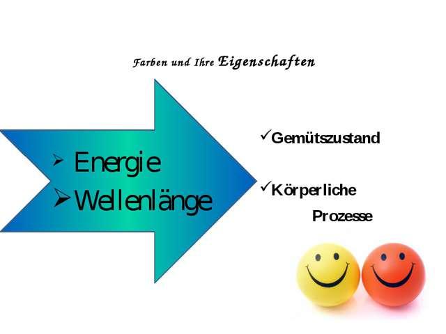 Farben und Ihre Eigenschaften Gemütszustand Körperliche Prozesse Energie Well...