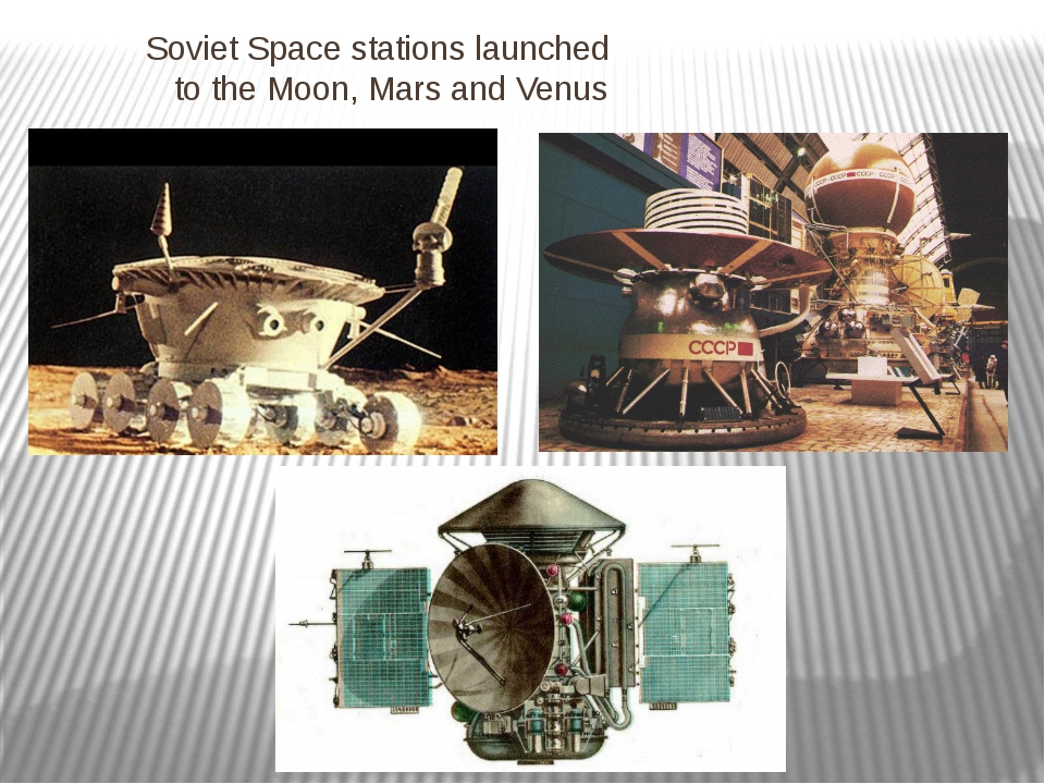 Soviet Space stations launched to the Moon, Mars and Venus