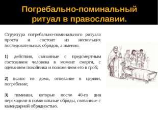 Погребально-поминальный ритуал в православии. Структура погребально-поминальн