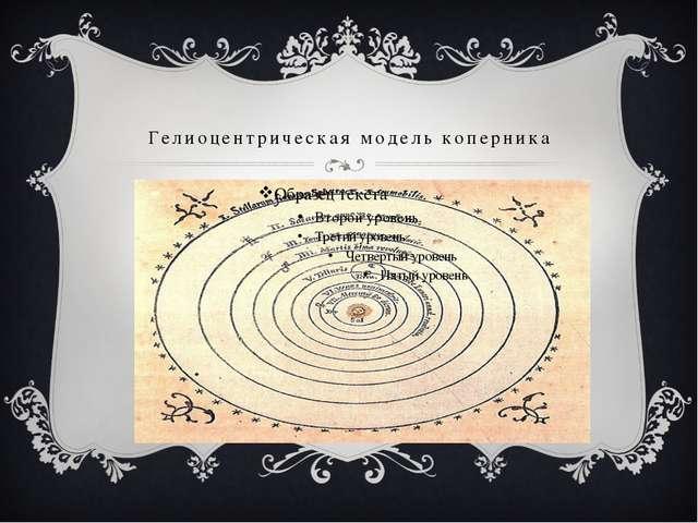 Гелиоцентрическая модель коперника