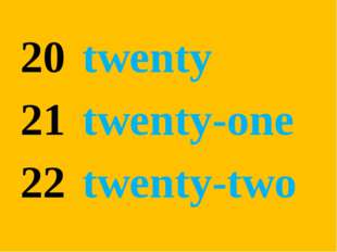 twenty twenty-one twenty-two