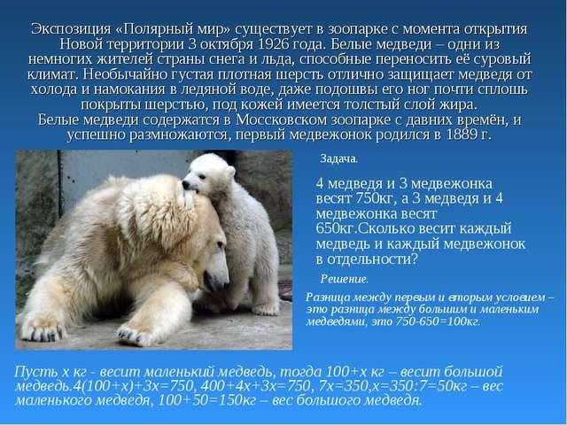 Экспозиция «Полярный мир» существует в зоопарке с момента открытия Новой терр...